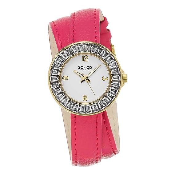 SO & CO New York Reloj para Mujer de con Correa en Cuero 5070.3