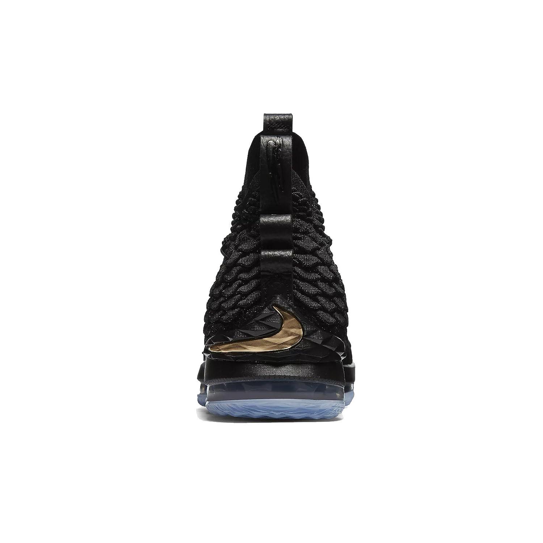 Nike Lebron XV Black//Metallic Gold Kids