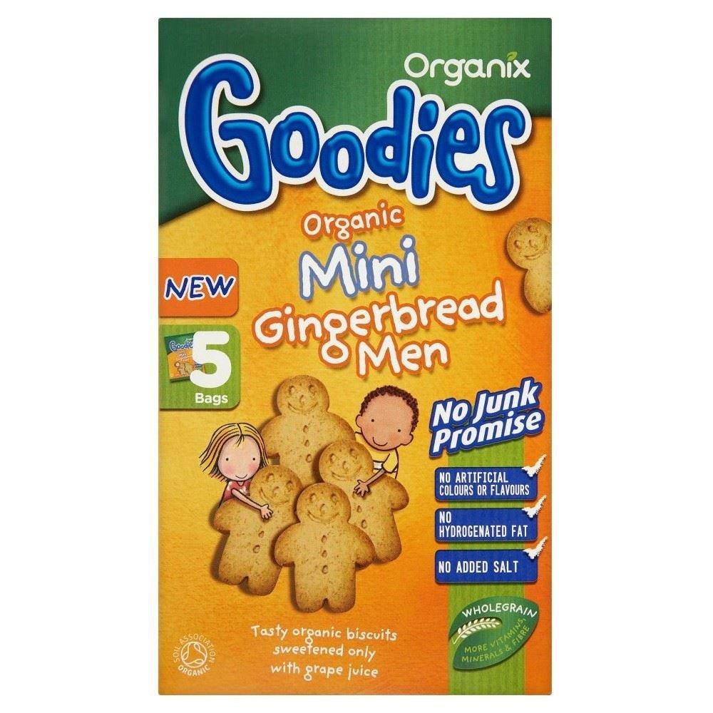 Organix Goodies Organic Mini Gingerbread Men 12mth+ (5x25g) Grocery