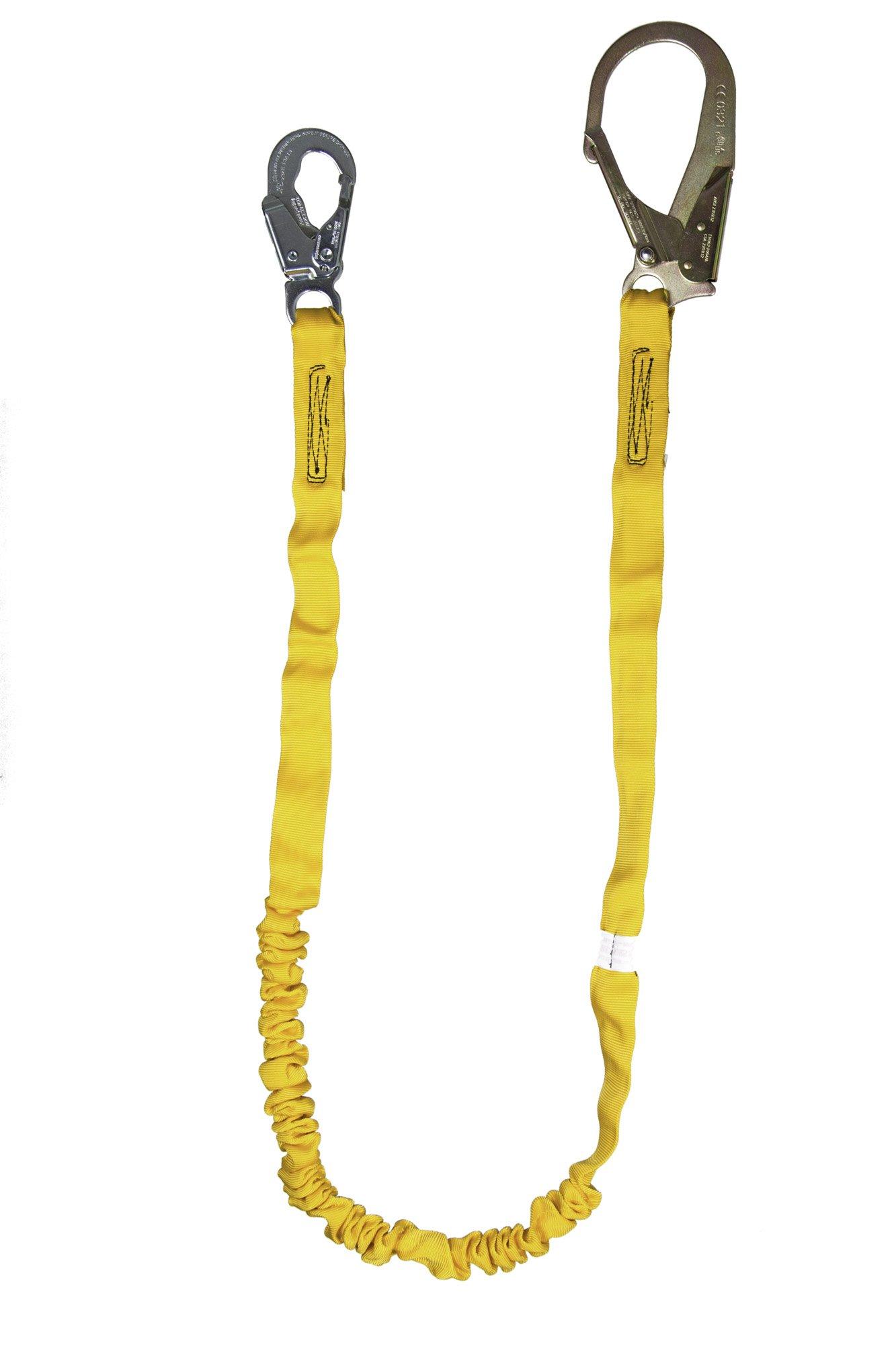Guardian Fall Protection 11201 IS-72R 6-Foot Internal Shock Lanyard with Rebar Hook