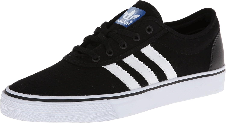 adidas Originals Men's Adiease Skate Shoes, Black/White/Black, (4 M US)