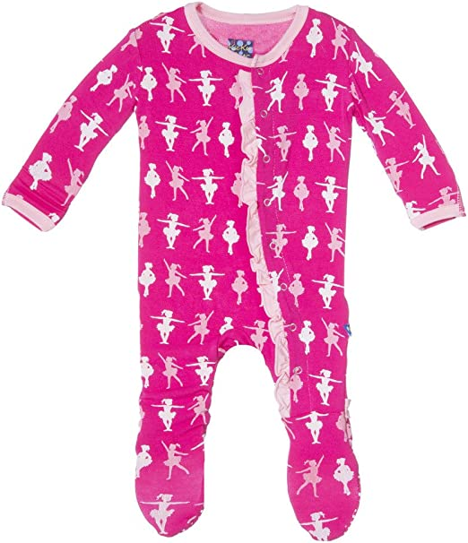 Kickee Pants Baby Girls Print Muffin Ruffle Footie Prd-kpmrf391-swl