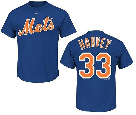 reputable site 19b58 9ccdb Amazon.com : New York Mets Matt Harvey Royal Name and Number ...