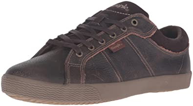 Simple Men's Waveoff Fashion Sneaker, Dark Brown, ...