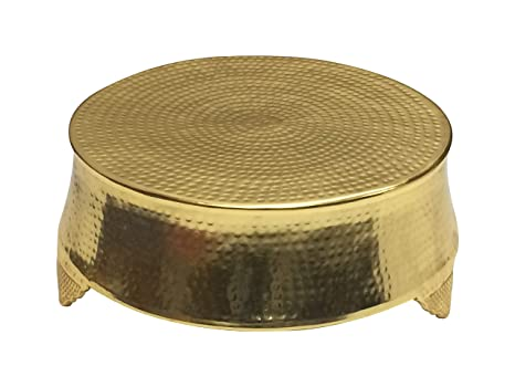 Cool Giftbay Wedding Cake Stand Round Hammered Design Gold Finish 18 Diameter On Top Gamerscity Chair Design For Home Gamerscityorg