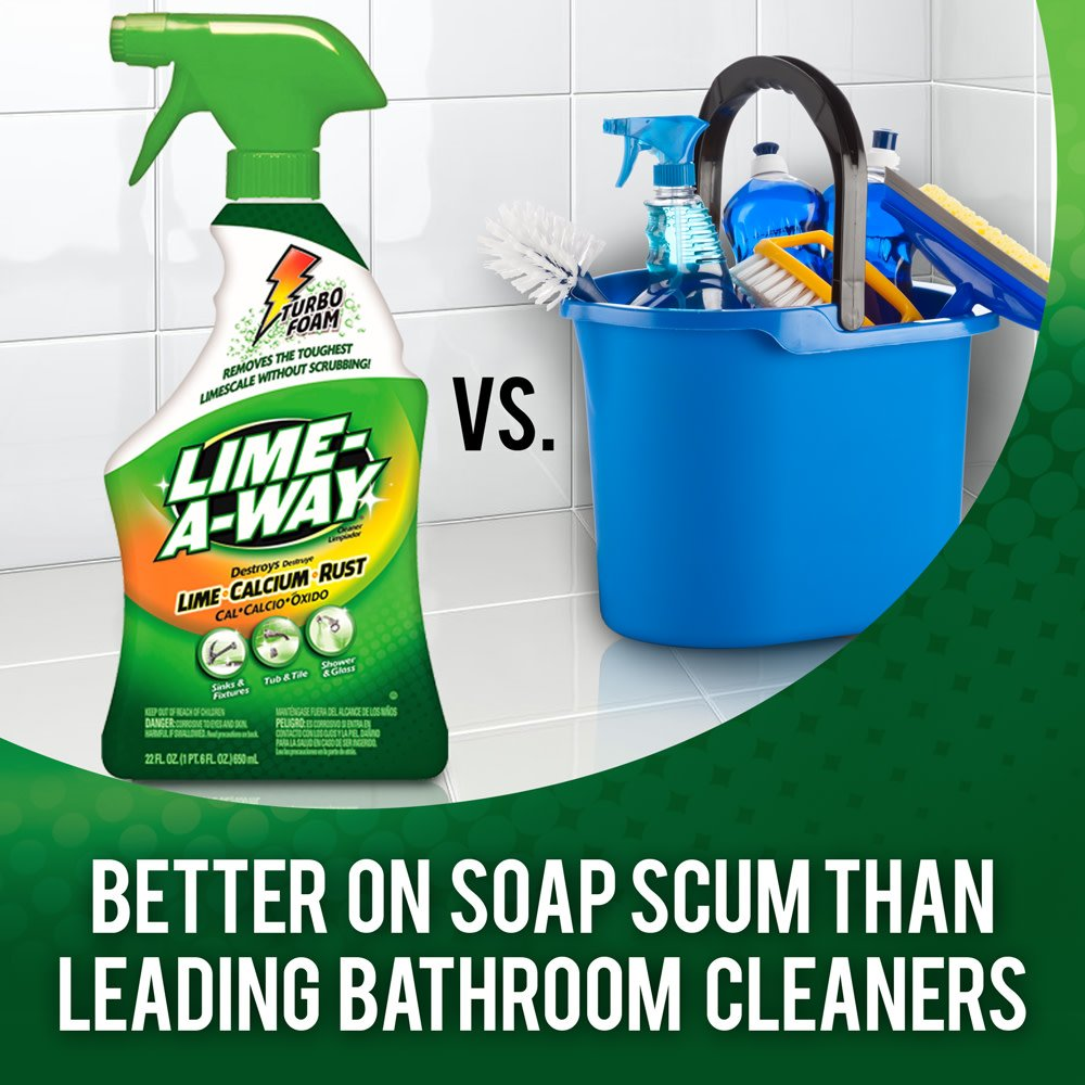 Lime-A-Way Bathroom Cleaner, 132 fl oz (6 Bottles x 22 oz), Removes Lime Calcium Rust by Lime-A-Way (Image #3)