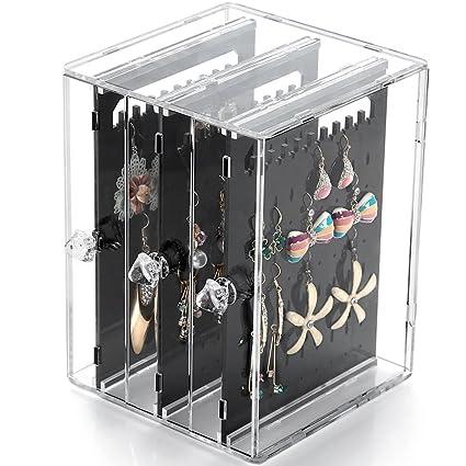 Amazoncom Weiai Acrylic Jewelry Storage Box Earring Display Stand
