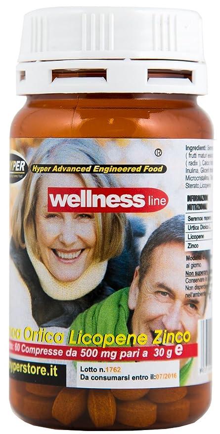 Suplementos bienestar Próstata | 60 tabletas | formulación con Serenoa Repens (Saw palmetto) Nettle