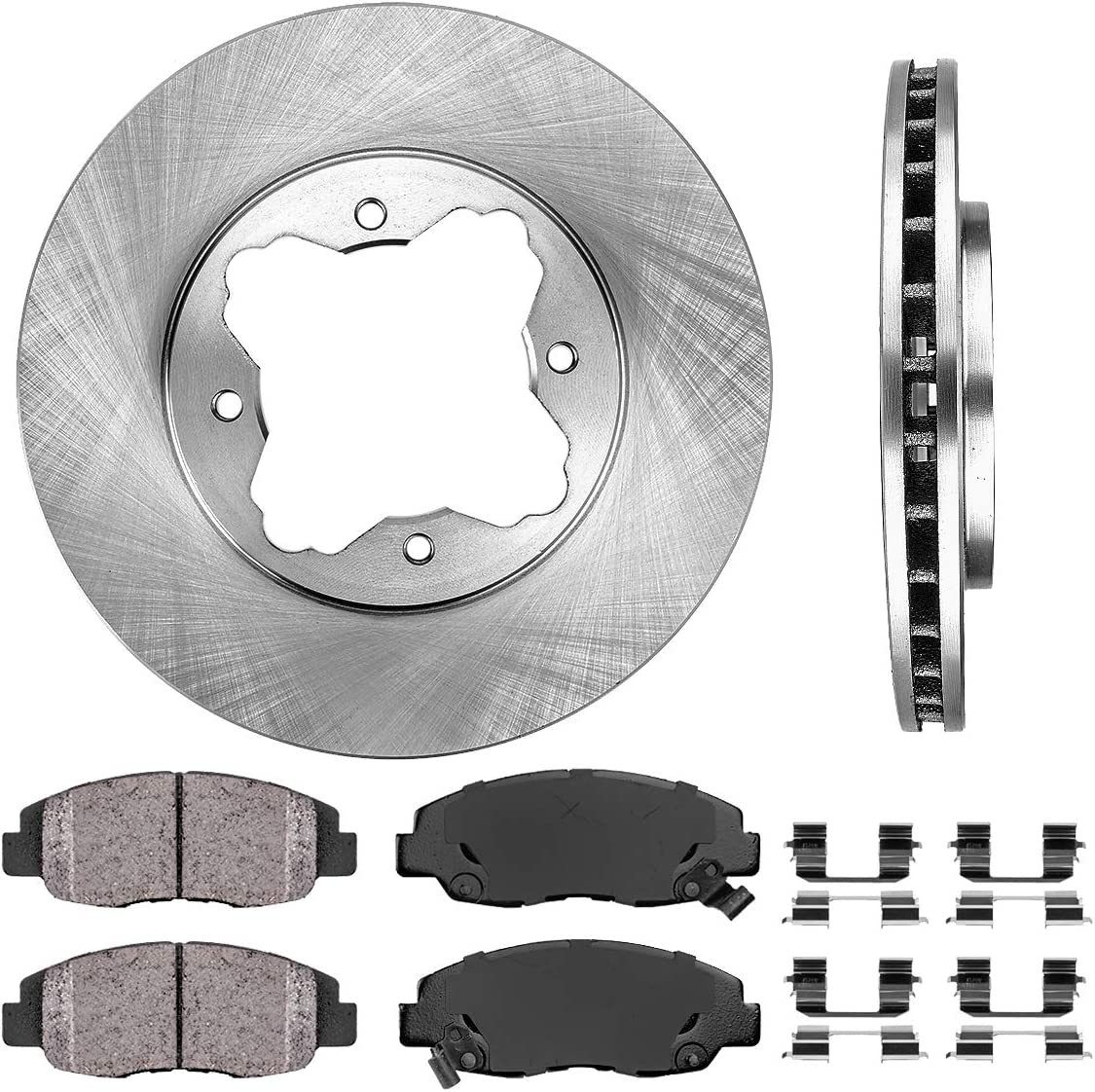 1990-1997 Honda Accord Brakes Disc Rotor Rotors Front