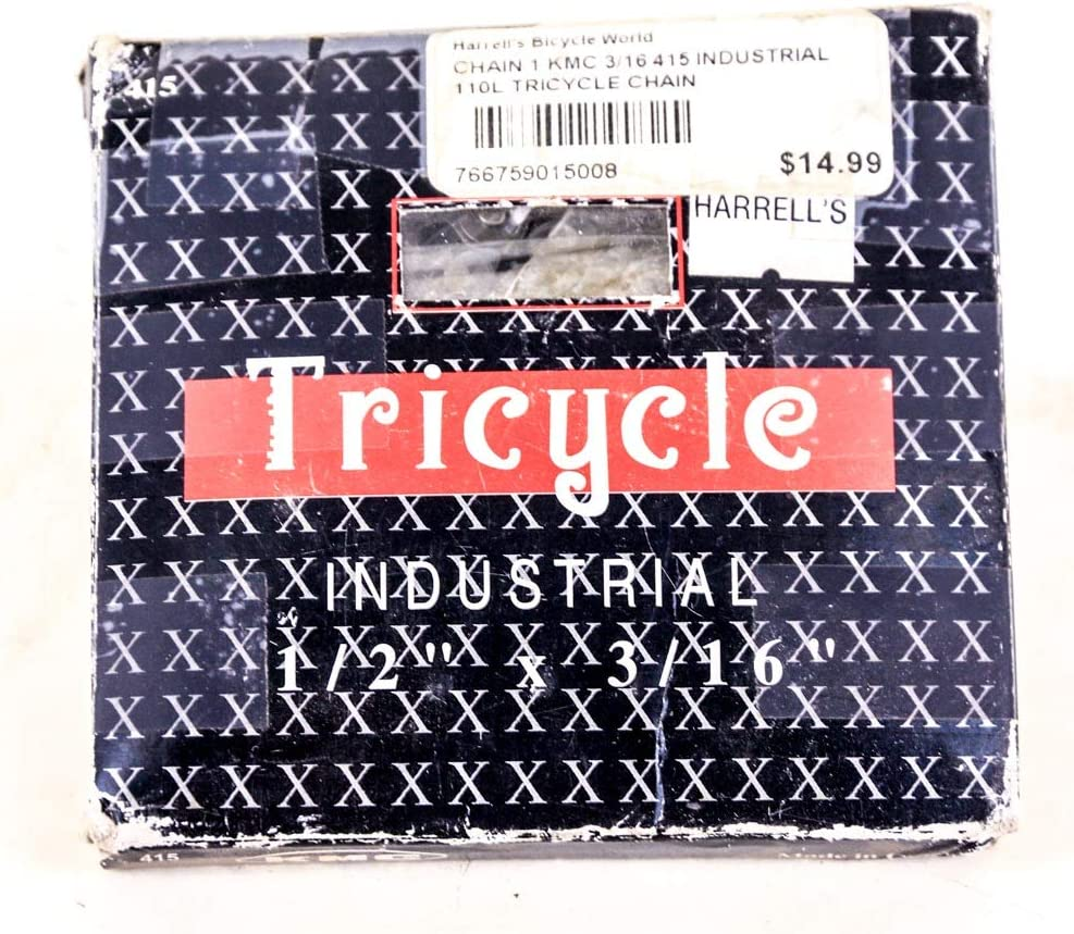 """Bicycle Chain Single Speed 1//2/"""" 3//32/"""" 116L For BMX And Single Speed Gear Bikes"""