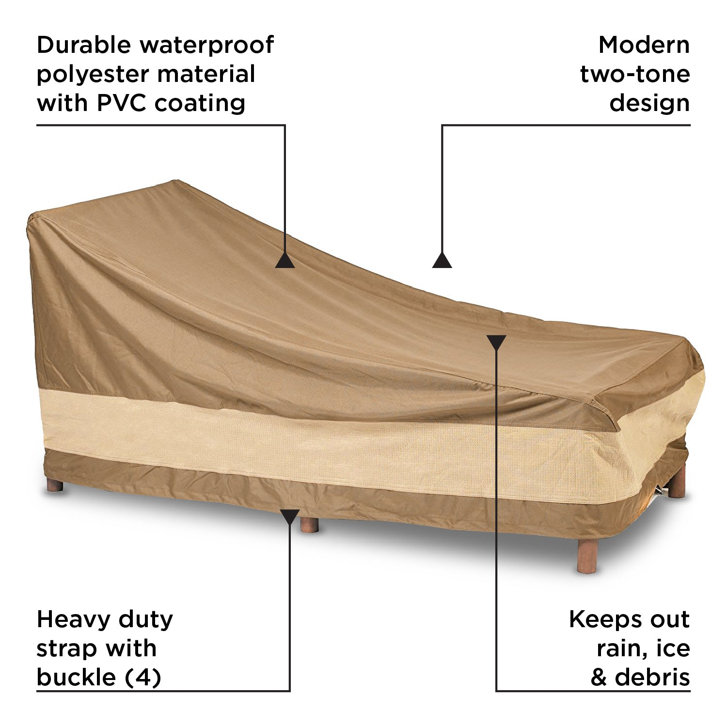 Amazon.com: AnyWeather Patio Chaise Lounge Outdoor Cover ...