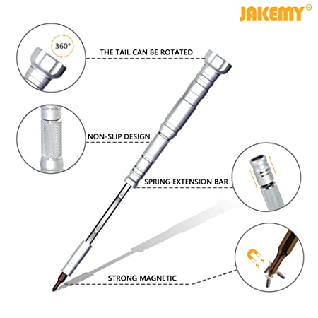 Amazon Com Jakemy 61 In 1 S 2 Bits Precision Screwdriver Set
