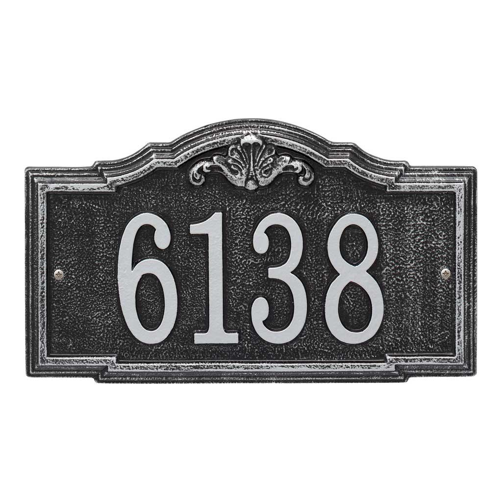 Comfort House Address Plaque - Decorative Metal Address Sign Personalized With Your House Number P2886 wall mount
