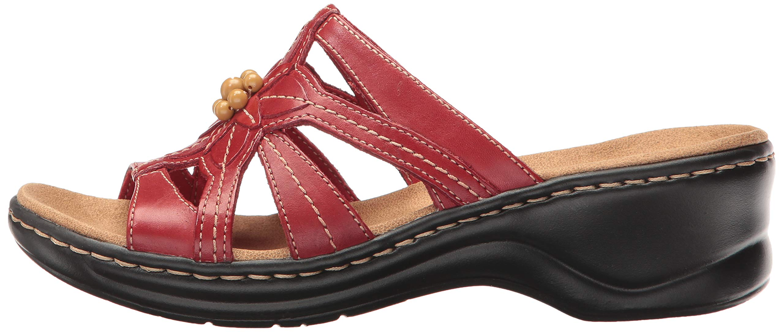 Clarks Women S Lexi Myrtle Red Leather 6 Ee Ext