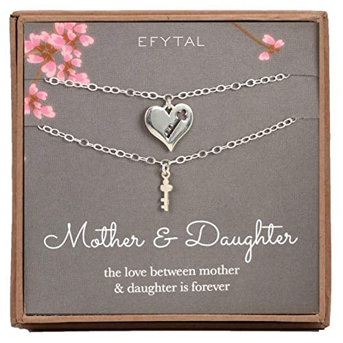 Amazoncom Efytal Sterling Silver Mother Daughter Two Matching