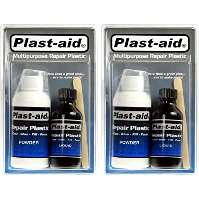 2-Pack Plast-Aid Acrylic, PVC, ABS, CPVC, Plastic Repair Kit - 2 x 6 oz. Kits (12 oz. total) : Swimming Pool And Spa Supplies : Garden & Outdoor