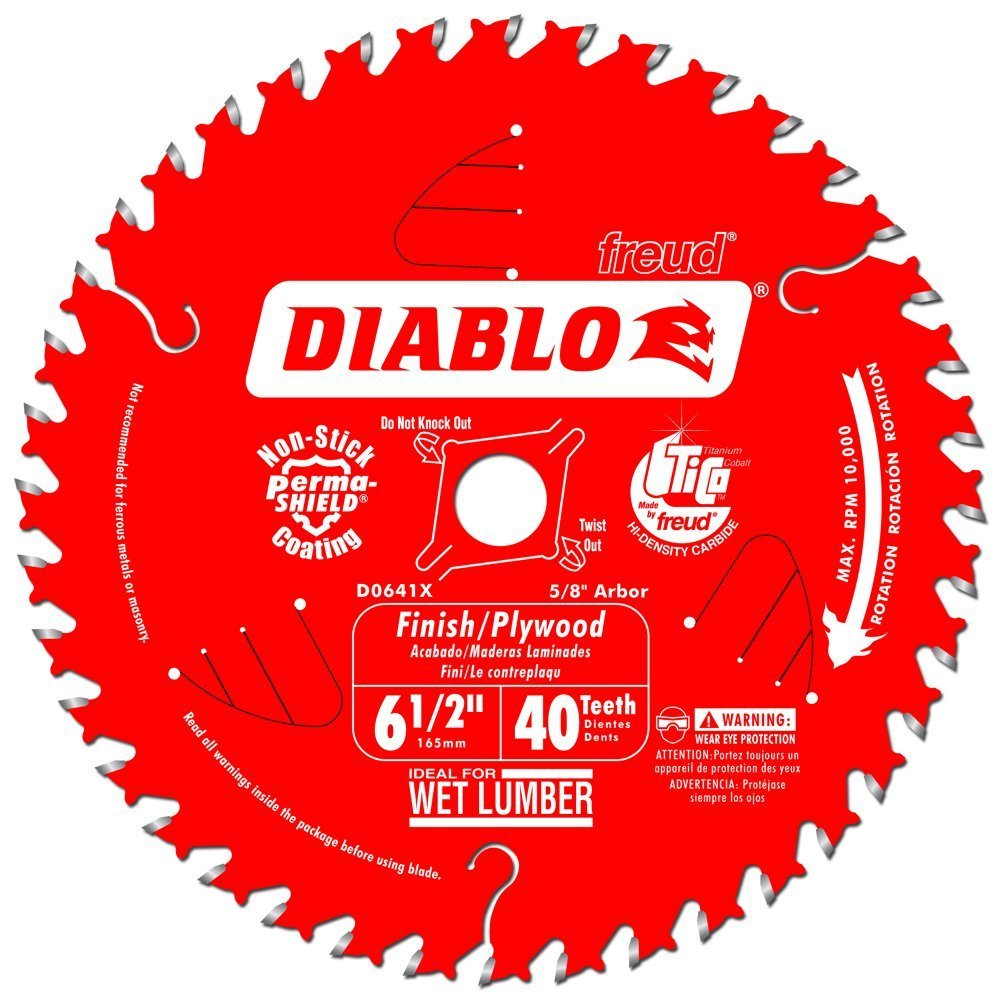 Diablo by Freud D0641X 6-1/2 by 40 Finishing Saw Blade 5/8'' Arbor (1 per pack)