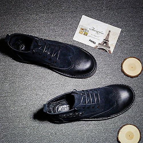 HL-PYL - - - Martin Schuhe für Herren Schuhe und Retro verdickte hohe All-Match Schuhe 41 Schwarz b691a4
