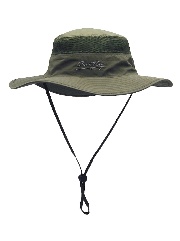 WANYING Damen Herren Outdoor Sonnenschutz Bucket Hut Fischerhut Baumwolle Two Way to Wear f/ür Kopfumfang 55-62 cm Camouflage