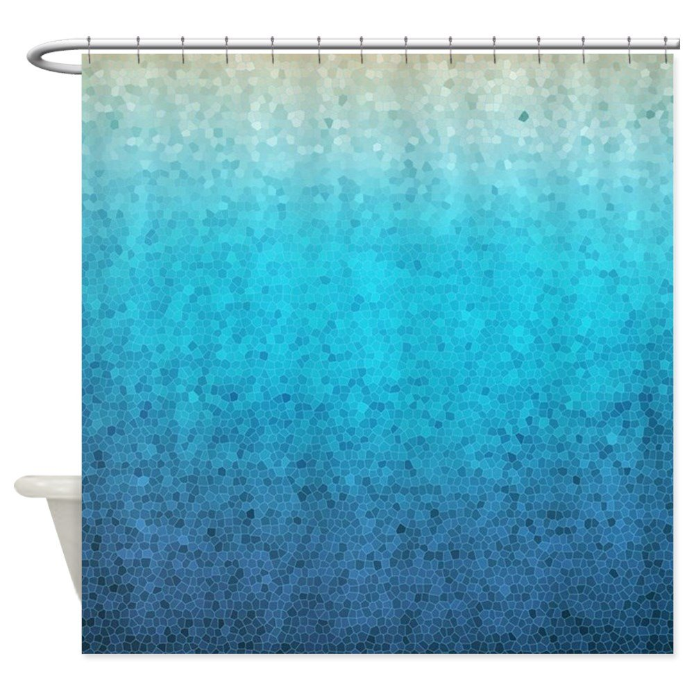 Amazon CafePress 108872005 Sea Glass Decorative Fabric Shower Curtain 69x70 Home Kitchen