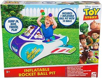 Toy Story Disney - Juego de 4 Pelotas inflables para Interiores y Exteriores con Juguetes para niños pequeños, Multicolor