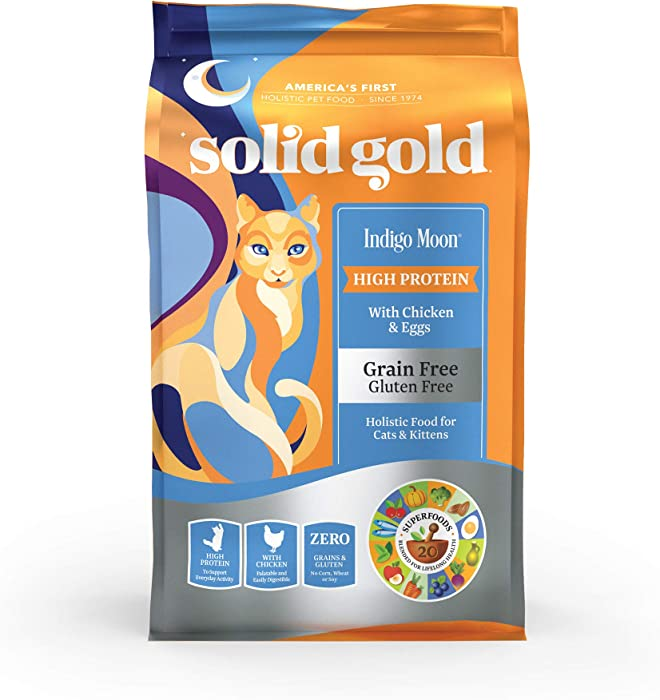 Solid Gold - Indigo Moon - High Protein & Grain-Free - Holistic Dry Cat Food for All Life Stages