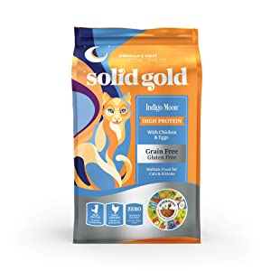 Solid Gold Indigo Moon with Chicken & Eggs Grain-Free Dry Cat Food