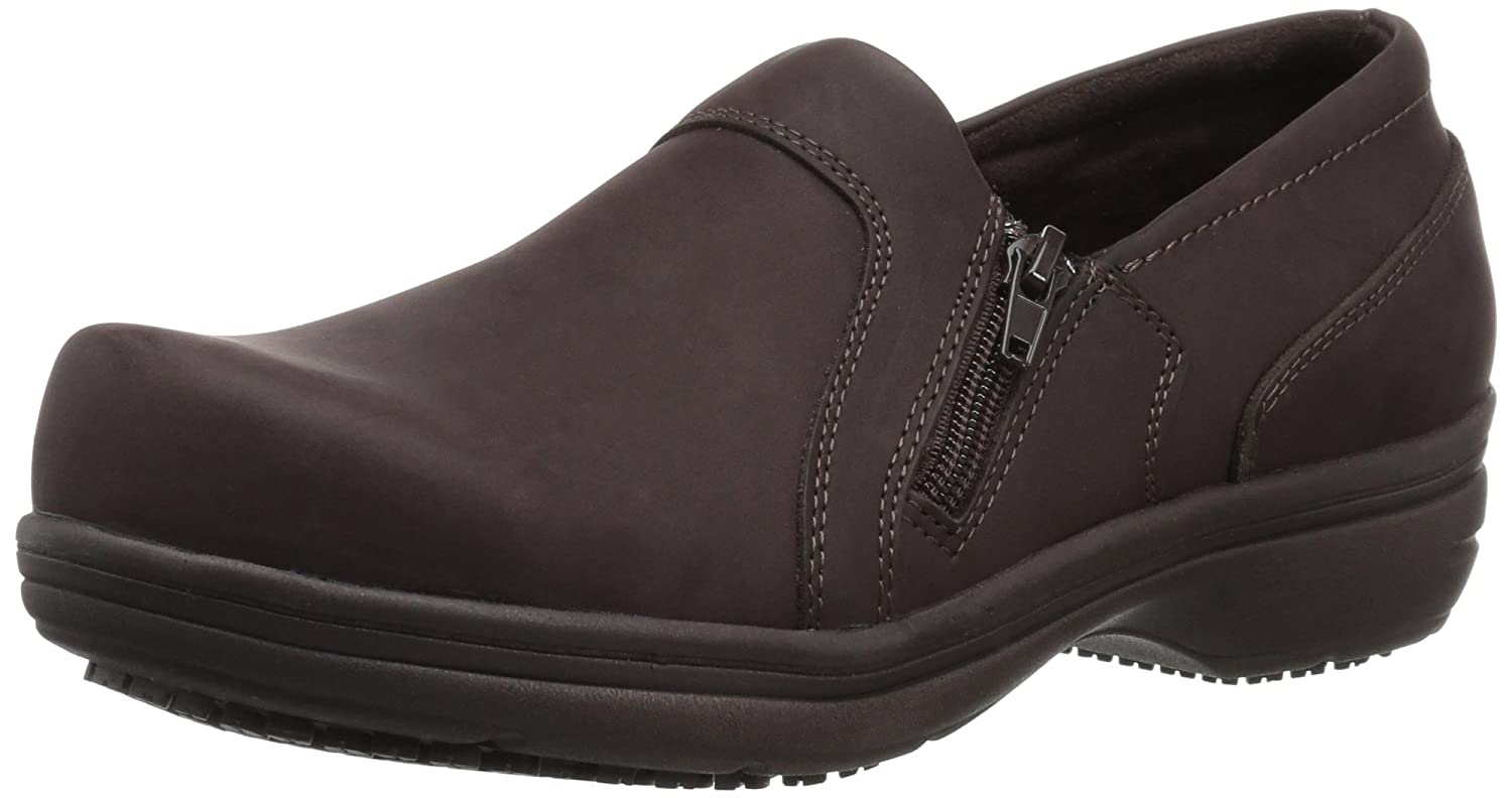 Easy Works Women's Bentley Health Care Professional Shoe B075M5QW77 8 W US|Brown Nubuck