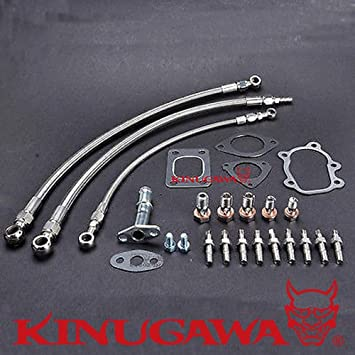 Turbo instalar Kit ajuste S13 SR20DET Silvia Garrett gt2876r gt3076r 6 una línea: Amazon.es: Coche y moto