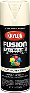 Krylon K02706007 Fusion All-In-One spray-paints, Dover White