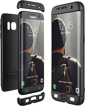 CE-Link Funda para Samsung Galaxy S7 Edge Rigida 360 Grados Integral, Carcasa S7 Edge Silicona Snap On Diseño Antigolpes Choque Absorción, Samsung S7 Edge Case Bumper 3 en 1 Estructura: Amazon.es: Electrónica