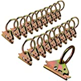Eapele 20PCS Steel E-Track O Ring Tie-Down Anchors for E-Track TieDown System, Secure Cargo in Enclosed/Flatbed Trailers, Tru