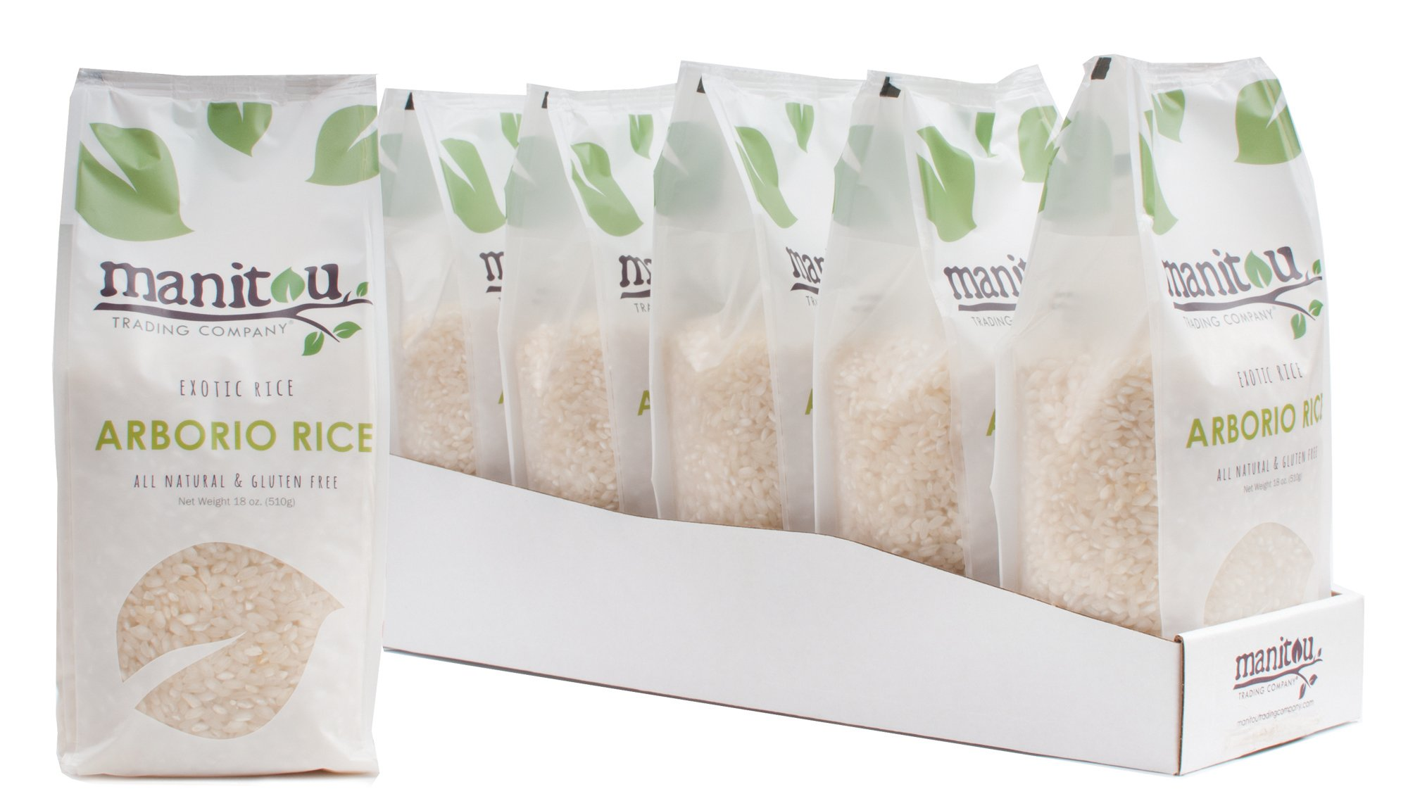 Arborio Rice by Manitou Trading Company, 18-Ounce, 6 Pack Sleeve