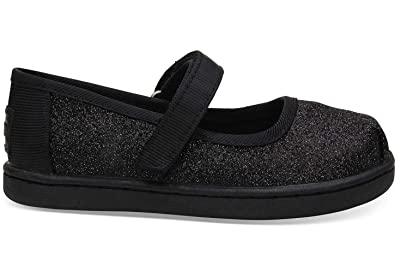 021e952cca3 TOMS Kids Baby Girl's Mary Jane (Infant/Toddler/Little Kid) Black Iridescent