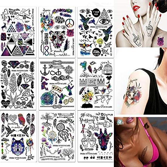 Tatuajes Temporales Pegatinas Cuerpo Falso Realista Falso Tatuajes ...