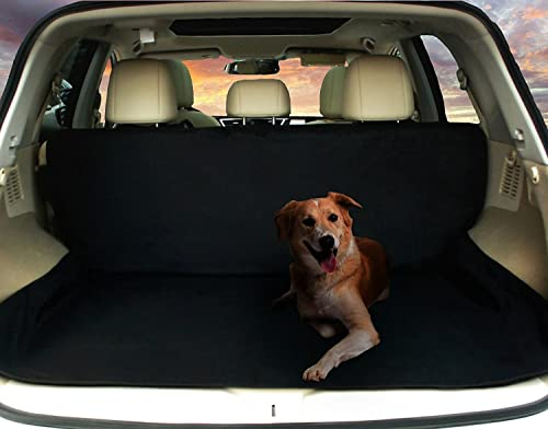 GREEN JUNGLE Deluxe SUV Cargo Liner for Pets – Waterproof, Nonslip, Machine Washable Car Seat Cover for Pets,