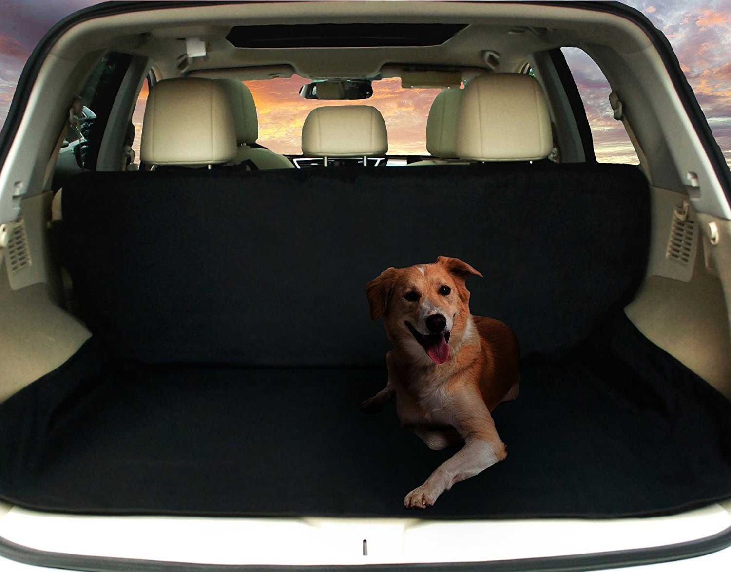 Deluxe SUV Cargo Liner For Pets – Waterproof, Nonslip, Machine Washable Car Seat Cover for Pets, Lifetime Warranty