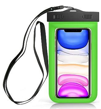 Sovica Funda Impermeable Compatible con Samsung Galaxy A50 Certificado IPX8 Funda acuatica Bolsa Sumergible Waterproof Case (Verde)