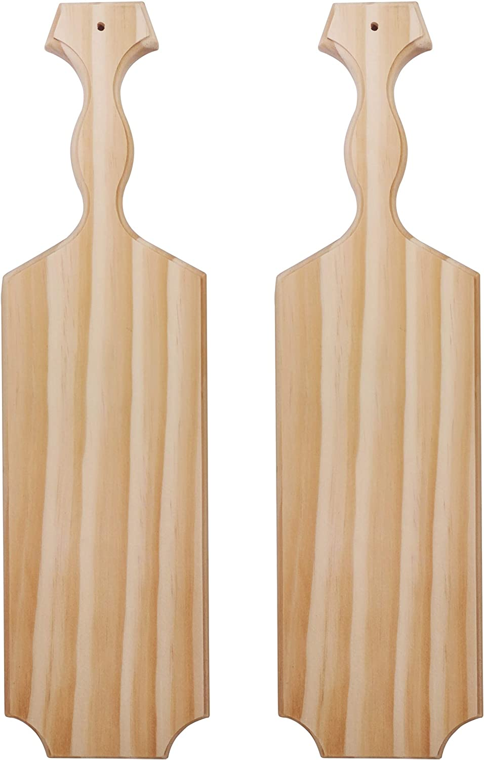 """Yonor 2-Pack Sorority Paddle 15"""" Inch -100% Solid Pine Wooden Greek Fraternity Paddle - Unfinished Solid Wood Paddle (2 PACK-15"""", Natural)"""