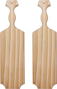 "Yonor 2-Pack Sorority Paddle 15"" Inch -100% Solid Pine Wooden Greek Fraternity Paddle - Unfinished Solid Wood Paddle (2 PACK-15"", Natural)"