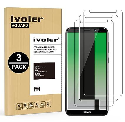 iVoler [3 Unidades] Protector de Pantalla para Huawei Mate 10 Lite, Cristal Vidrio