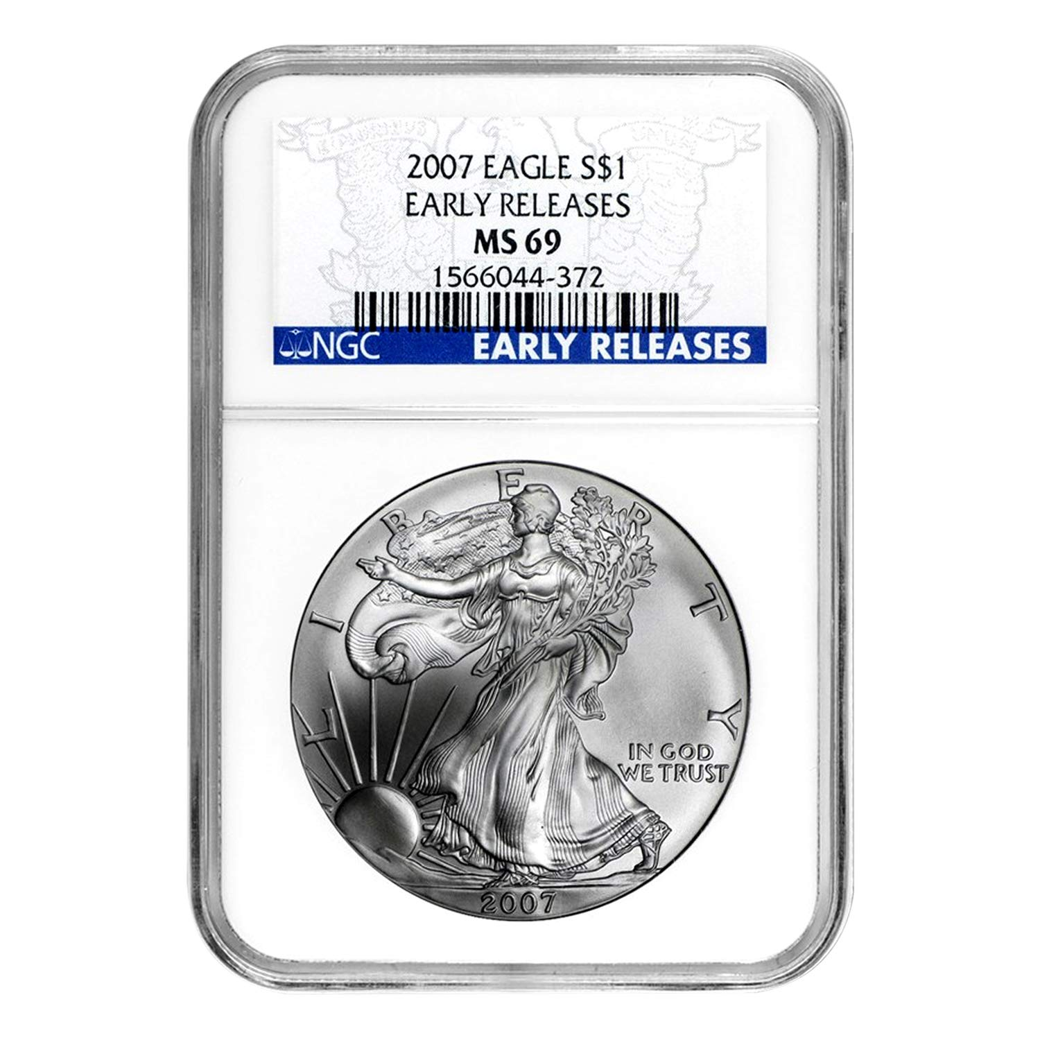 2012 American Silver Eagle NGC MS69 Flag Label