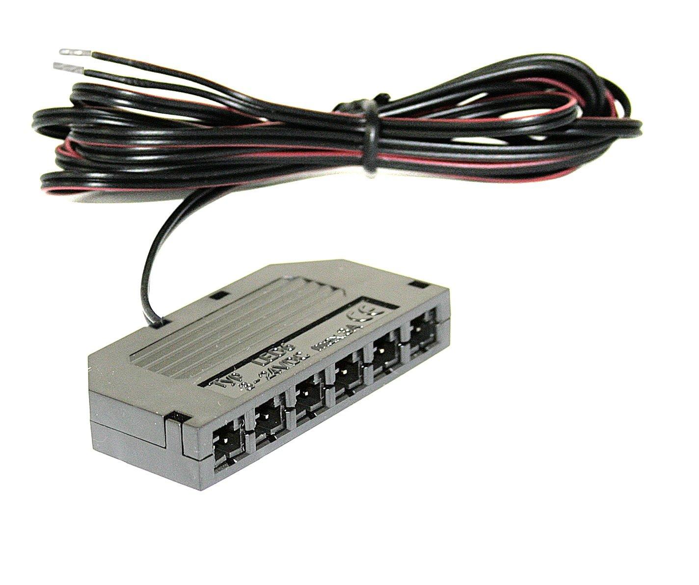 Mini AMP 6-Fach Verteiler fü r LED Lampen - Mö belleuchten - Trafos - Sets Jungeslicht Hausmarke