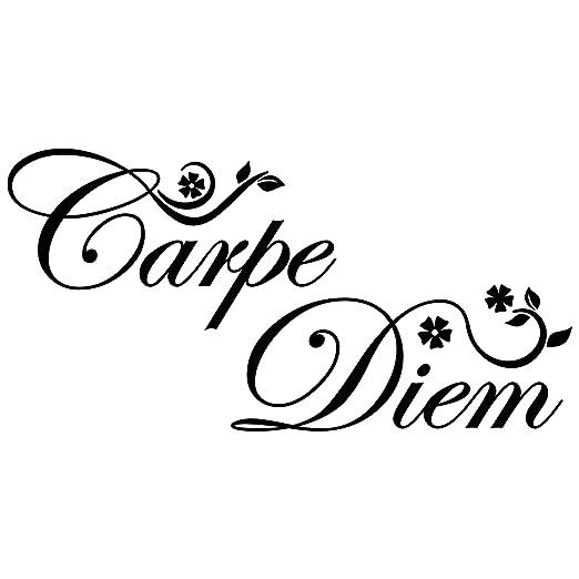 Bilderwelten Tatuaje de Pared Carpe Diem Floral, Adhesivo para ...