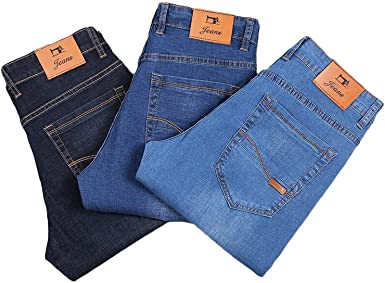 3 Colors Classic Style Men Thin Jeans Summer Style Elastic