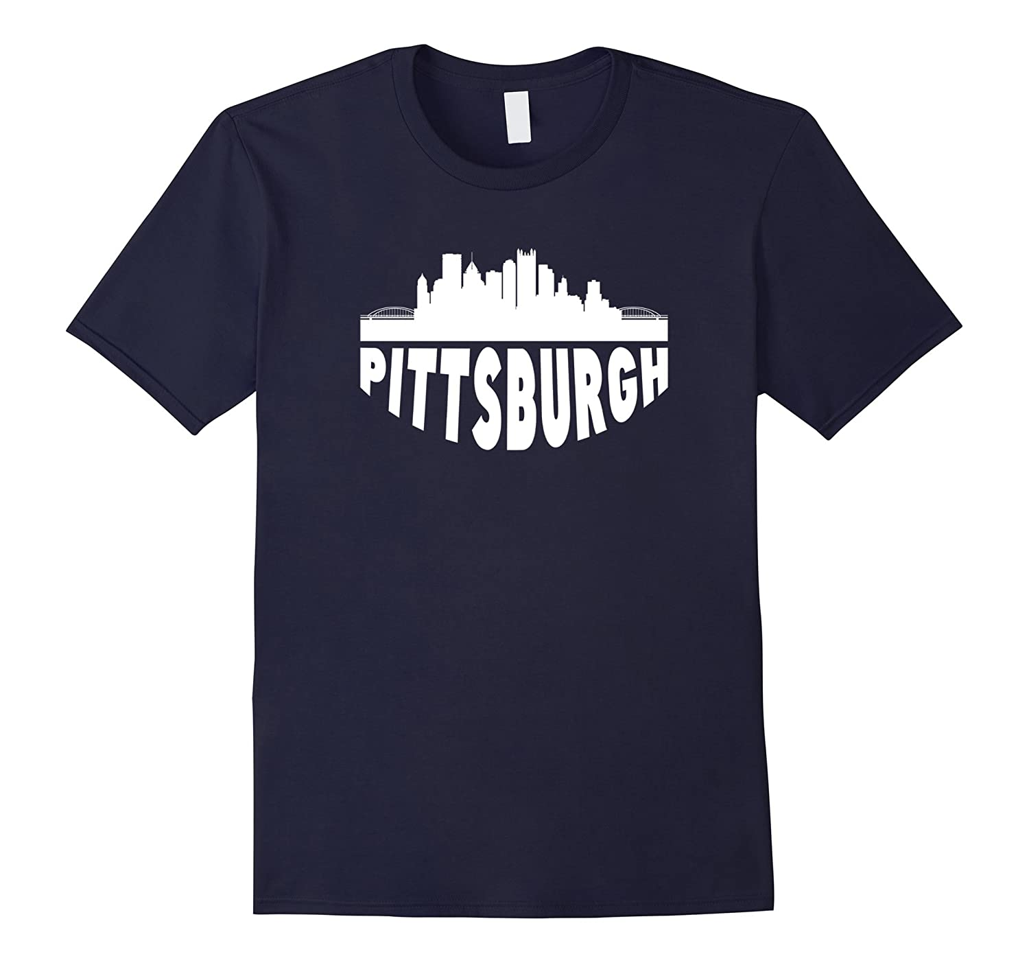 Cityscape Skyline Of Pittsburgh PA T-Shirt-TH