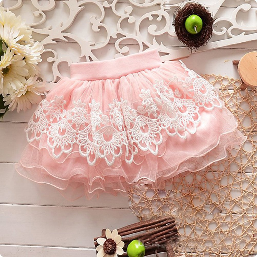 Dara Miwad Baby Girls Kid Child Toddler Princess Floral Tutu Pettiskirt Mini Dress Short Skirt