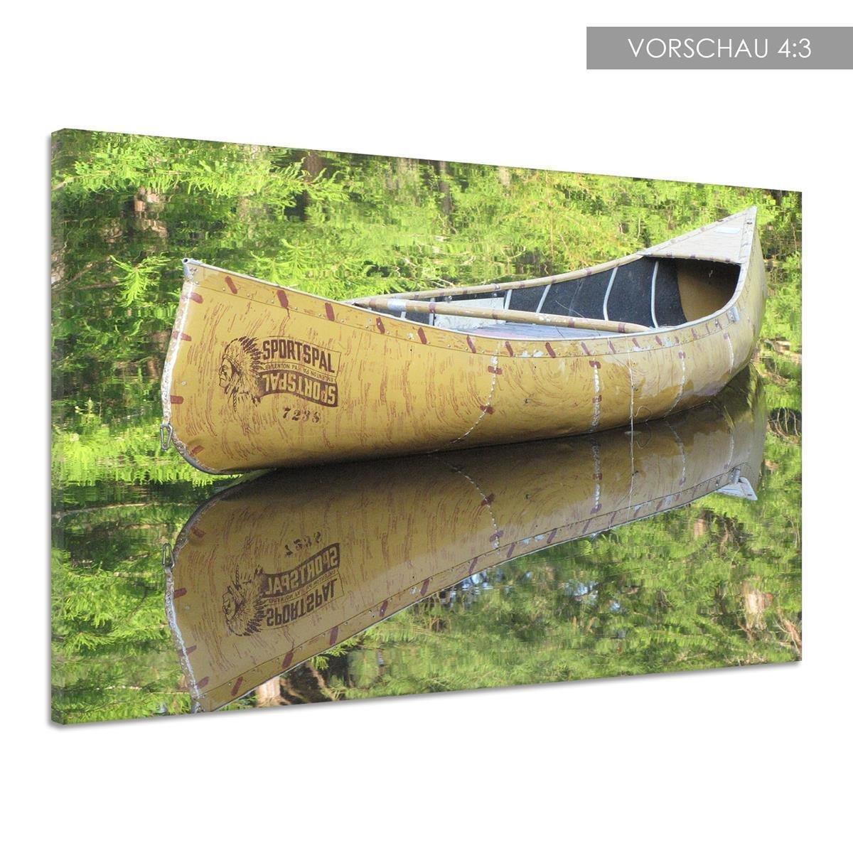 Amazon.de: Kanu Ruder Boot Wasser Reflektion Holz Kajak Leinwand ...