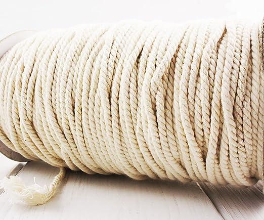 5m 16.5 5.5 ft yd color Crudo de color Blanco Crema Cordón de ...