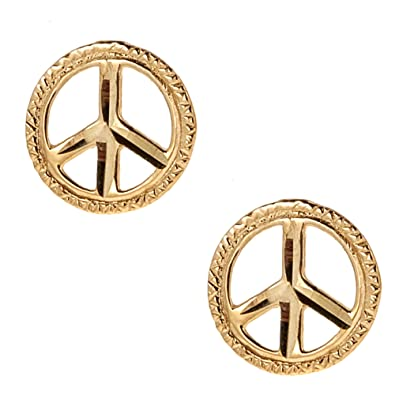 man anti for stainless sign pin steel peace earrings war and stud women